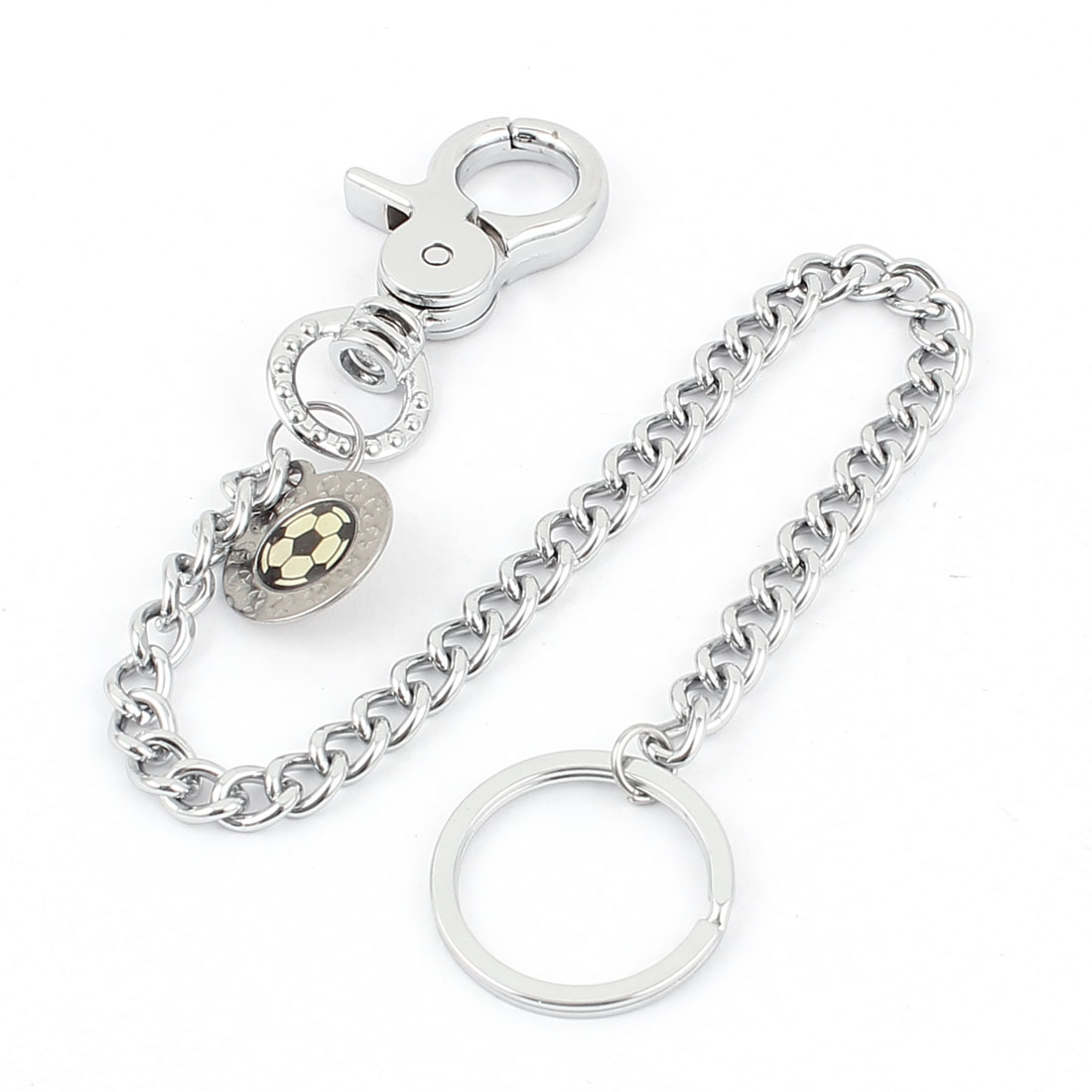 Metal Key Fob Keyring Key Chain Lobster Clasps Closure Silver Tone