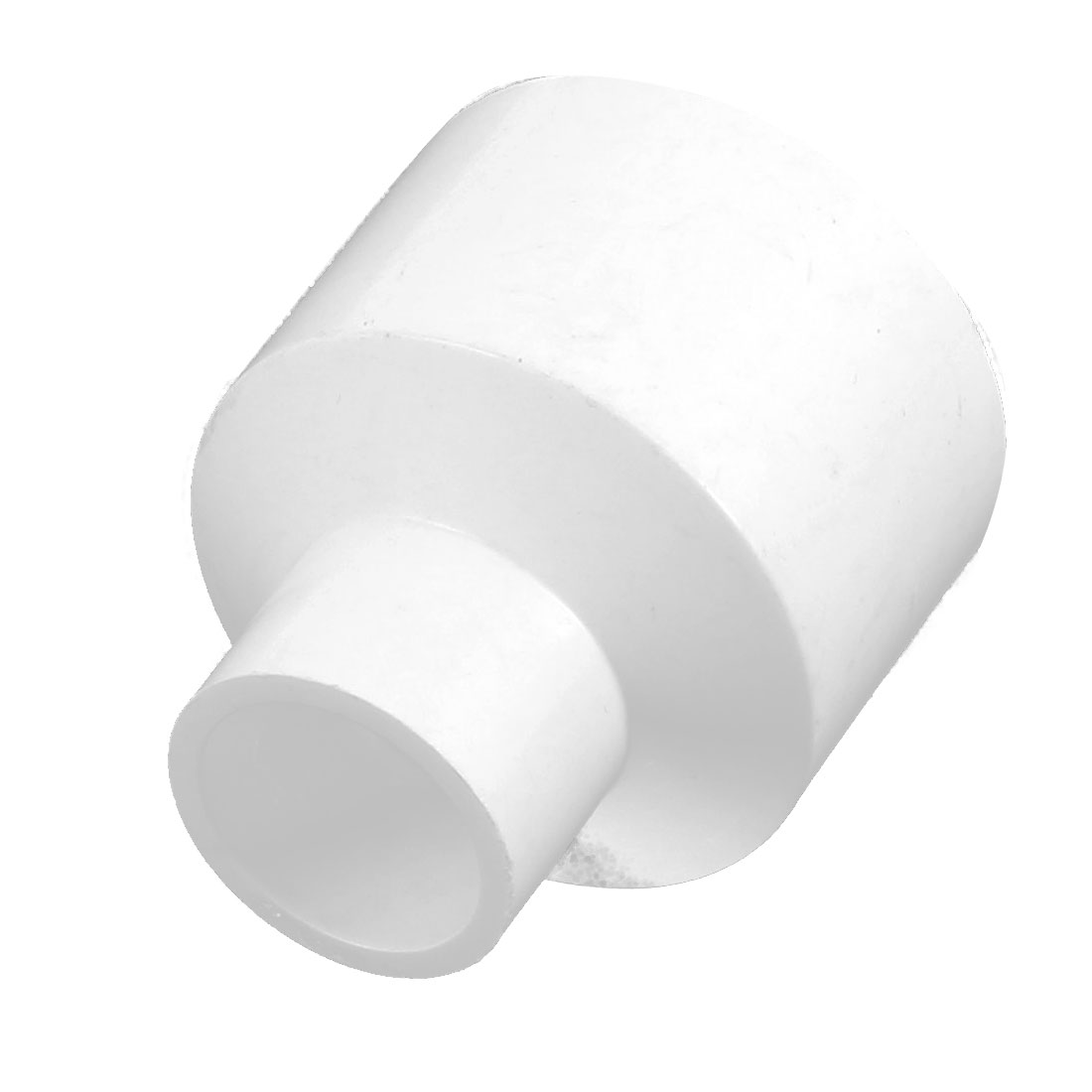 40mm 20mm Inner Hole Dia Two Way PVC Water Pipe Hose Coupler Connector White