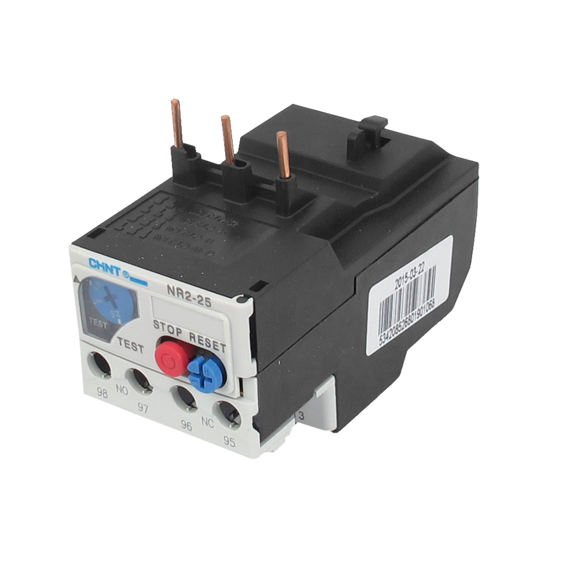 3 Pole AC 1.6A to 2.5A 690V Electric Thermal Overload Relay NR2-25
