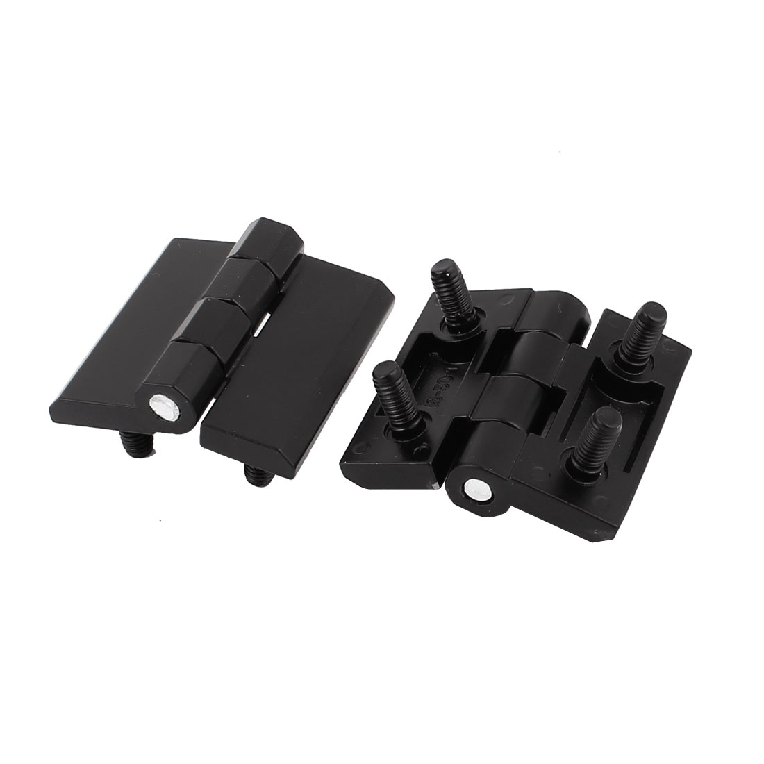 Cabinet Closet 50x50mm Screw On Type Metal Door Butt Hinge Black 2pcs