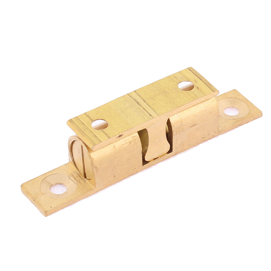 Cupboard Door Drawer Brass Tone Double Ball Latch Catch 60mm