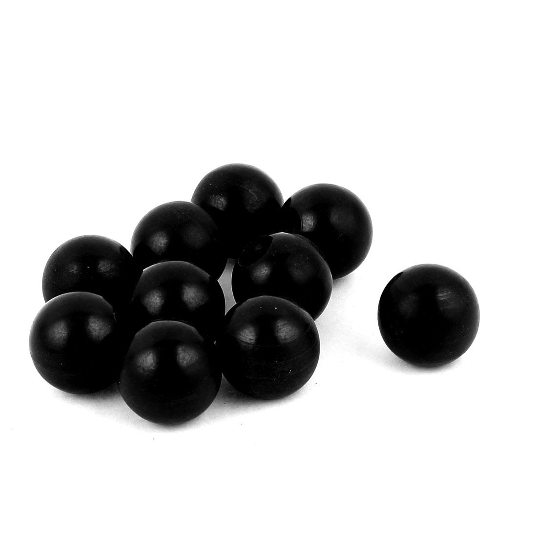 10pcs M6 Female Thread Black Plastic Solid Ball Lever Handle Knob
