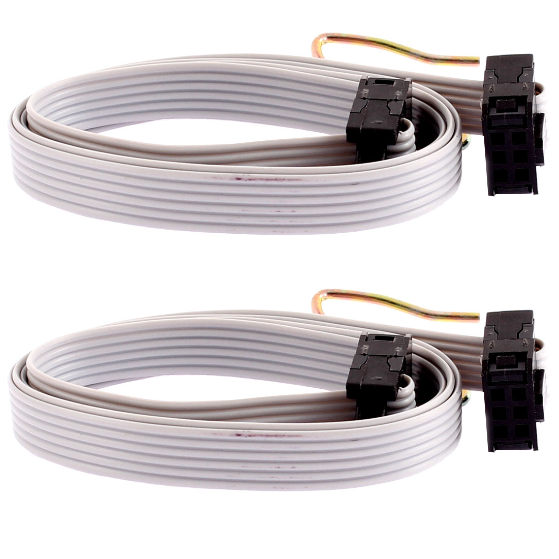 2.54mm Pitch 6 Pins 6 Wires F/F IDC Connector Flat Ribbon Cable 20 Inch 2 Pcs