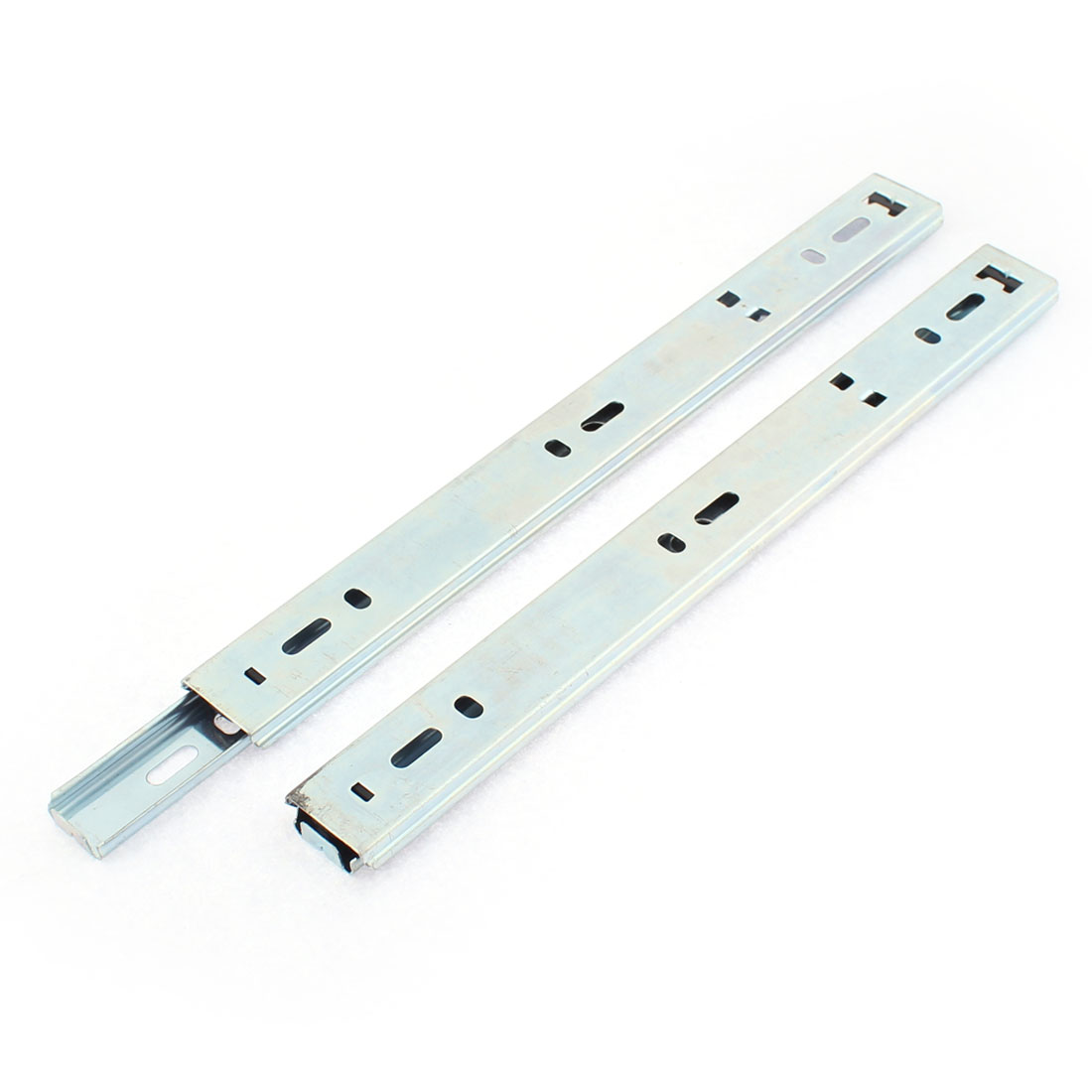 240mm Metal Ball Bearing Side Mounted Drawer Slides Rail Track 2pcs