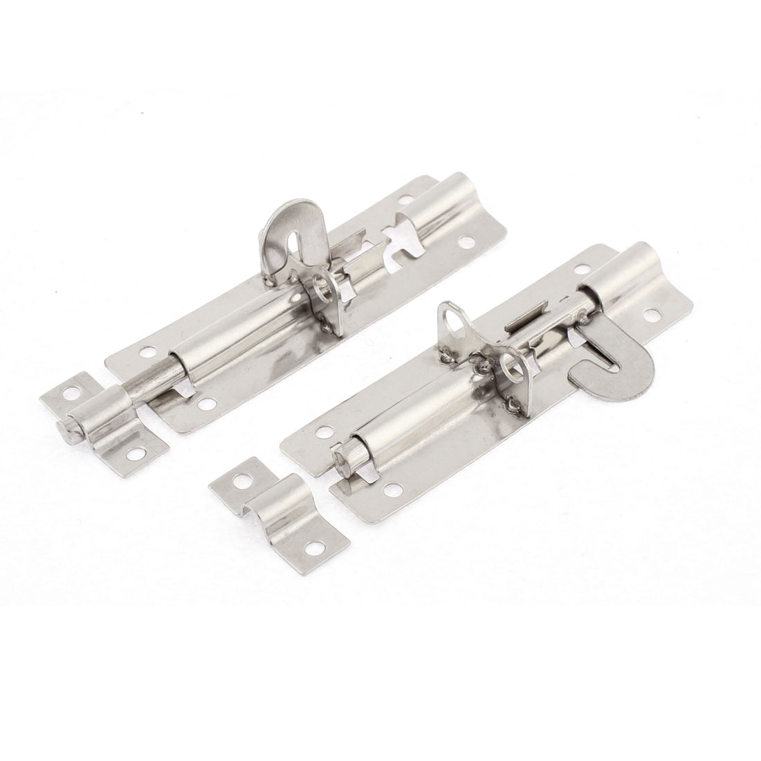 "Cabinet Door Safety Stainless Steel Barrel Bolt Latch Lock 4"" 2pcs"