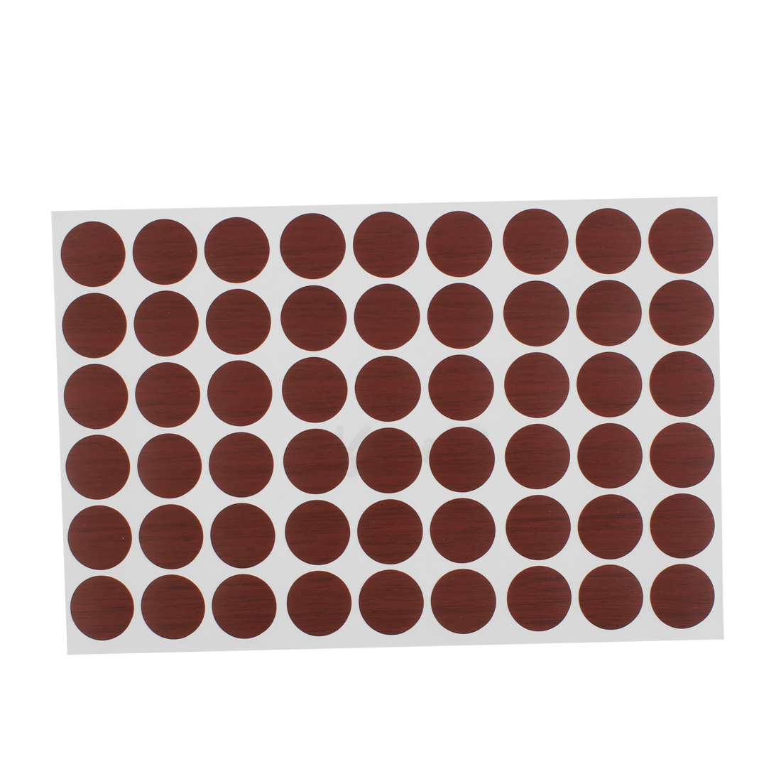 Furniture Desk Table Self-adhesive Screw Hole Covers Caps Stickers Red Brown 54 in 1