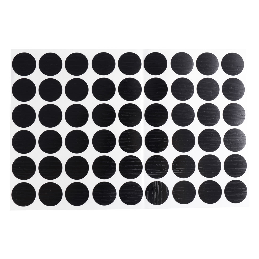 Furniture Desk Table Self-adhesive 21mm Screw Hole Covers Caps Stickers Black 54 in 1