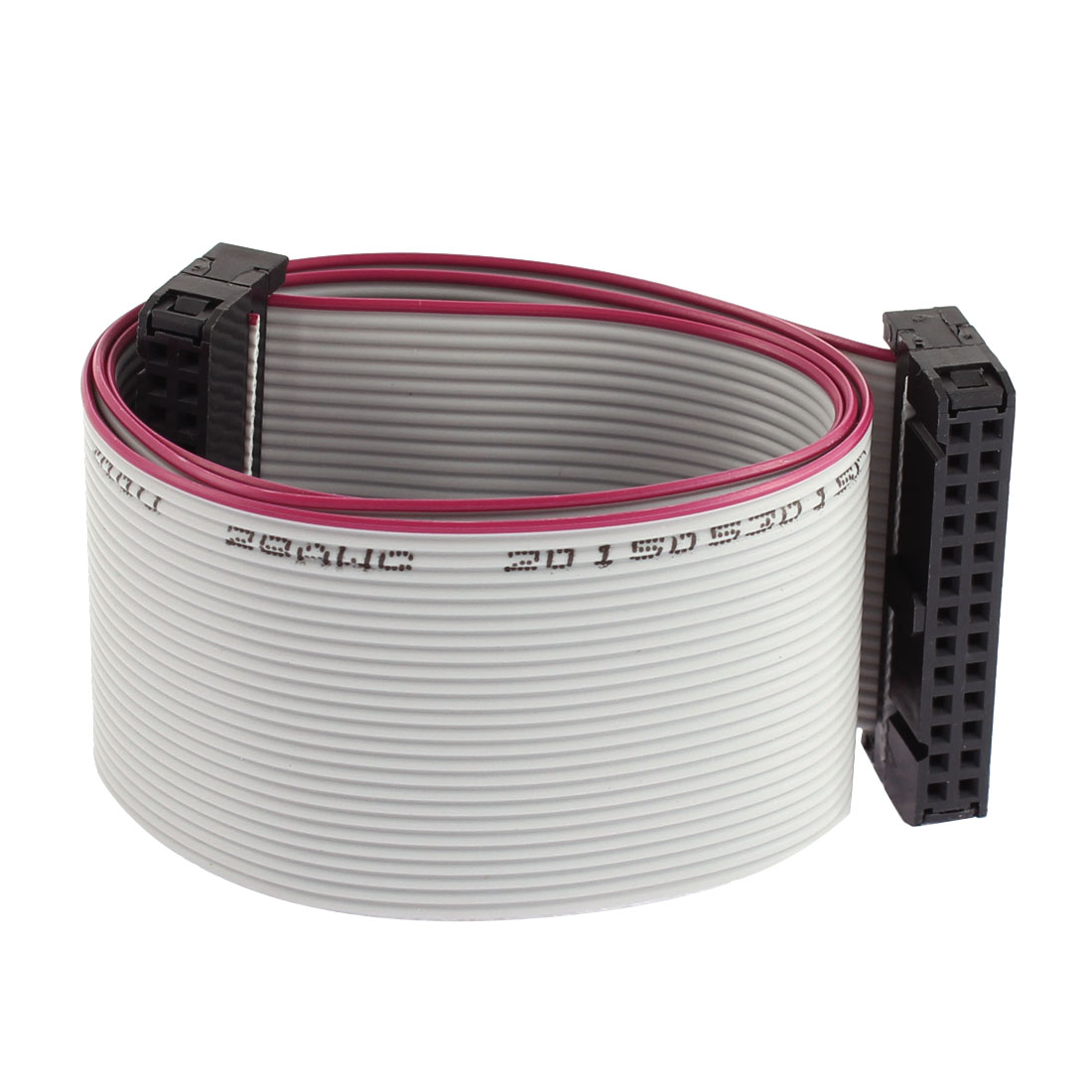 2.54mm Pitch 26 Pin 26 Wire IDC Connector Flat Ribbon Cable 50cm Long 2 Pcs