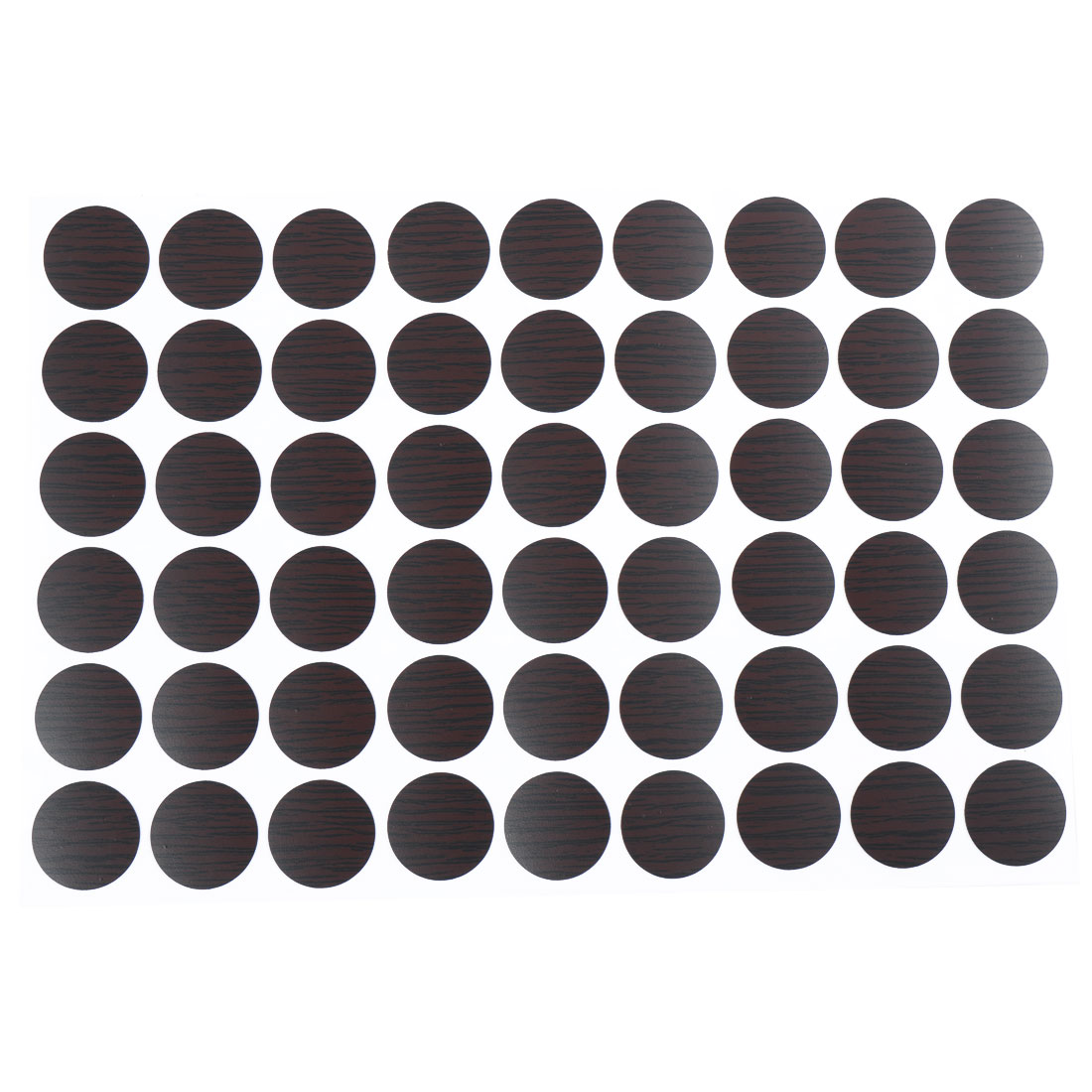 Home Office Furniture Self-adhesive Screw Covers Caps Stickers 21mm Dia 54 in 1