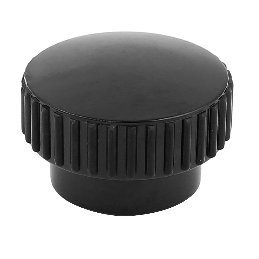 M10 x 40mm Round Head Screw On Knurled Clamping Knob Black