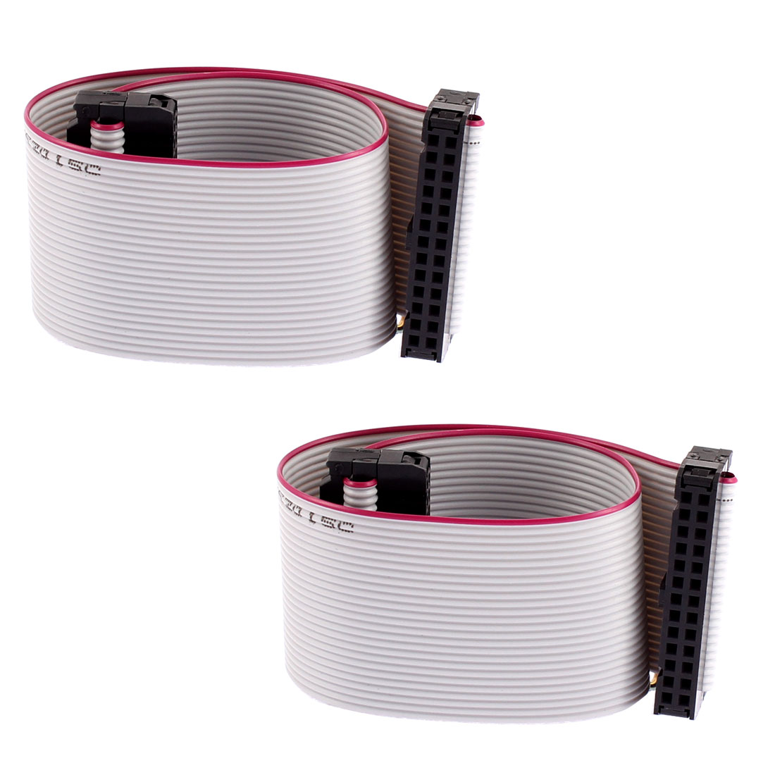 2.54mm Pitch 26 Pin 26 Wire F/F IDC Connector Flat Ribbon Cable 2pcs