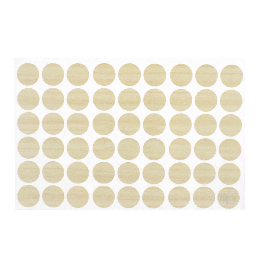 Home Furniture Plastic Self-adhesive Screw Covers Caps Stickers Off White 54 in 1