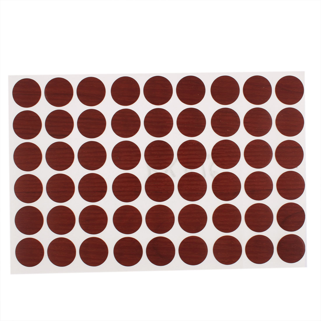 Plastic Self-adhesive Screw Hole Covers Caps Stickers Burgundy 54 in 1