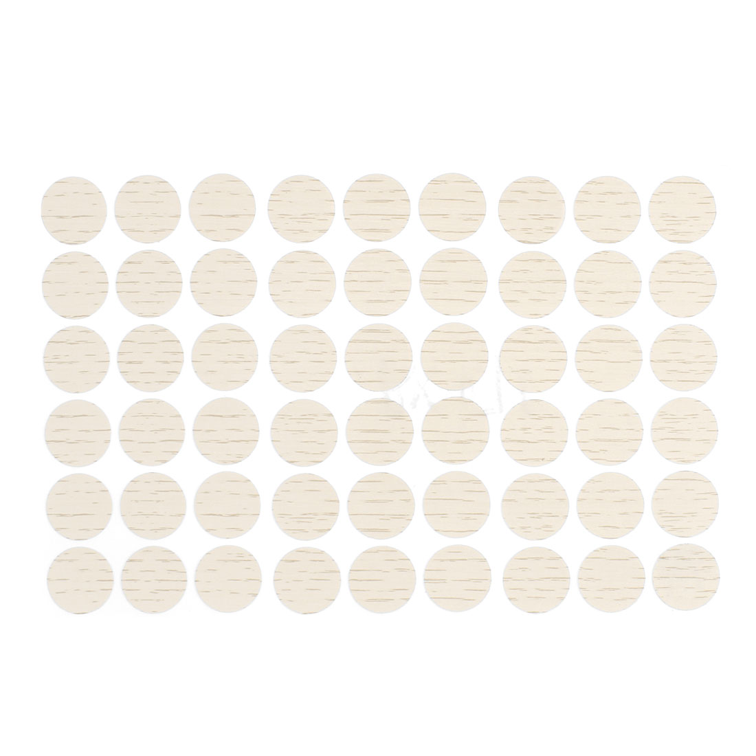Self-adhesive Screw Covers Caps Stickers Decor Light Beige 54 in 1 for 21mm Hole