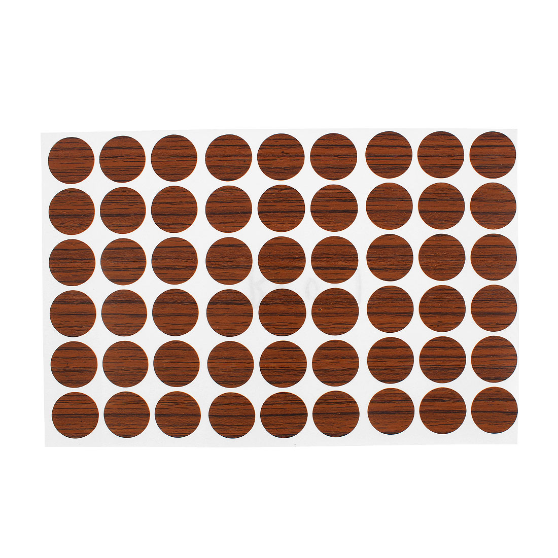 Home Office Plastic Self-adhesive Screw Hole Covers Caps Stickers Brown 54 in 1