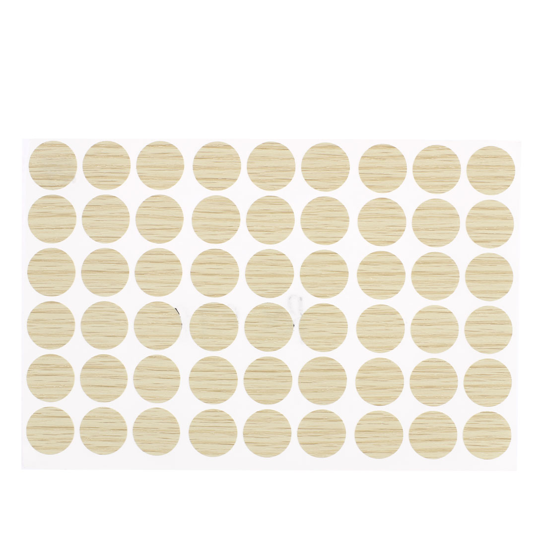 Plastic Self-adhesive Screw Hole Covers Caps Stickers Beige 54 in 1 for 21mm Dia