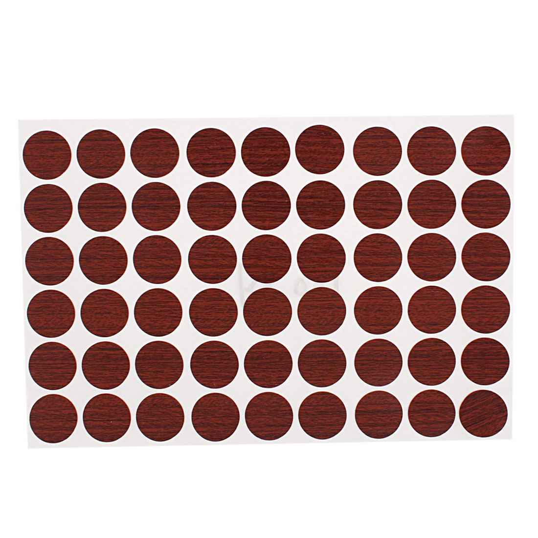 Furniture Desk Self-adhesive Screw Covers Caps Stickers Decor Brown 54 in 1