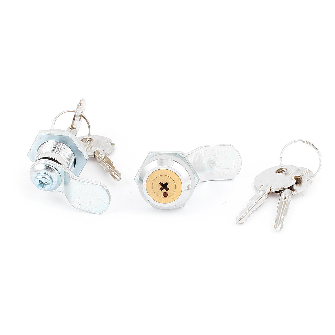 File Desk Drawer Cylinder Keyed Cam Lock Locker Hardware 2pcs