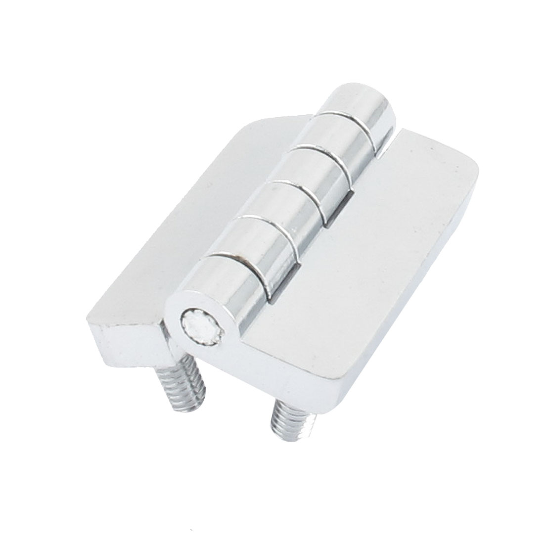 Screw On Type Metal Cabinet Closet Door Butt Hinge Silver Tone