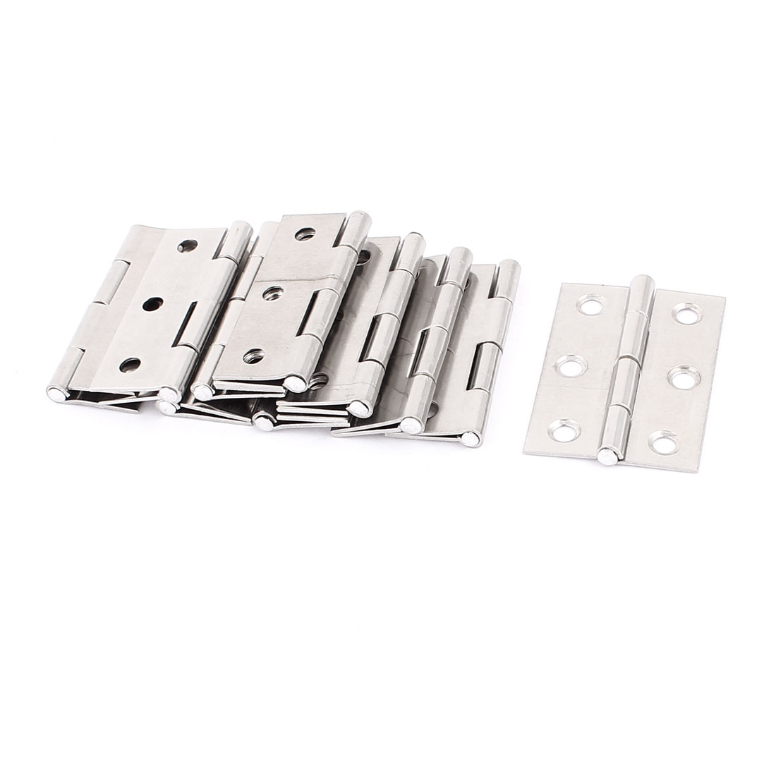 Furniture Cabinet Stainless Steel Foldable Rotating Door Hinges 10pcs