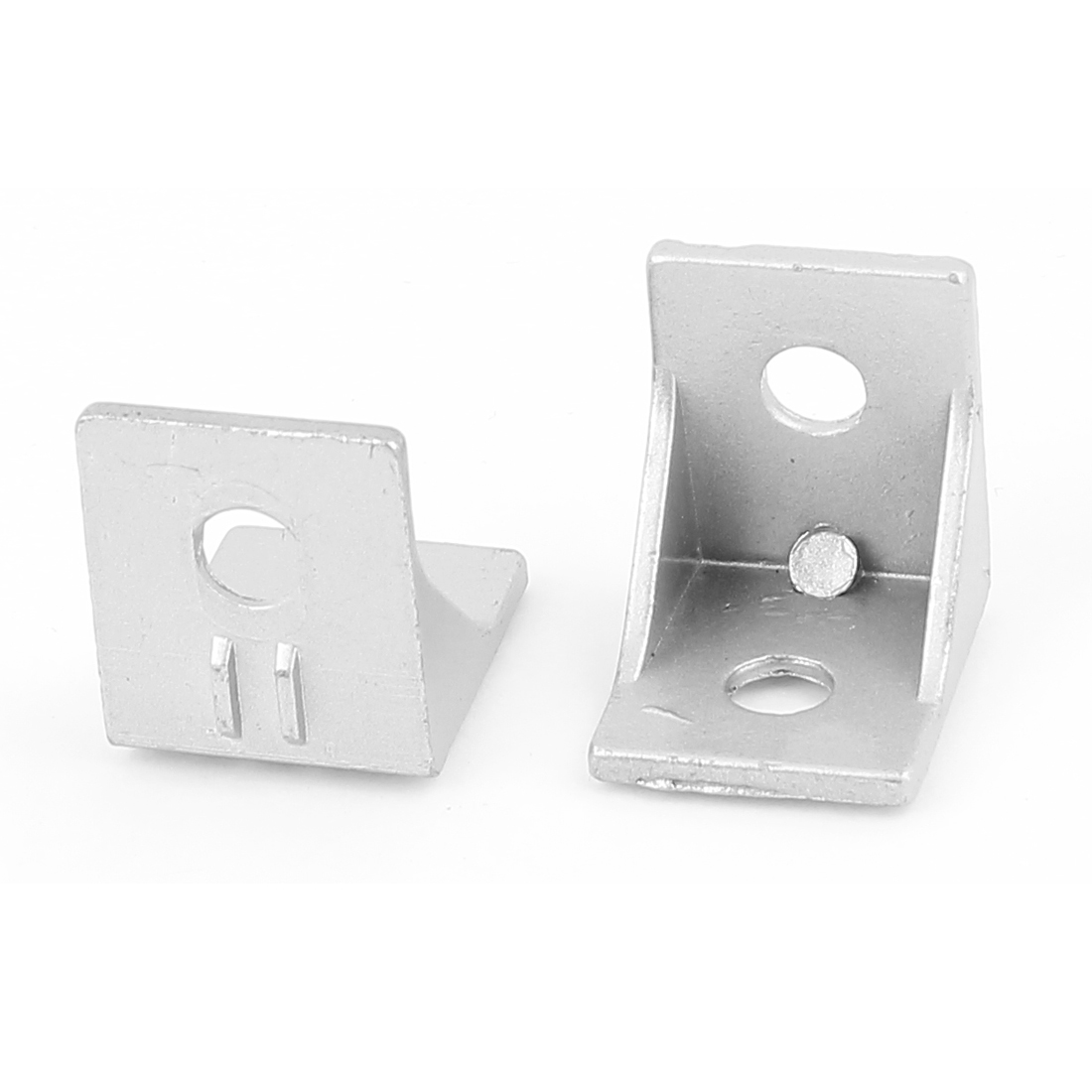 35mmx35x30mm 90 Degree Silver Tone Aluminum Alloy Angle Corner Bracket 2pcs