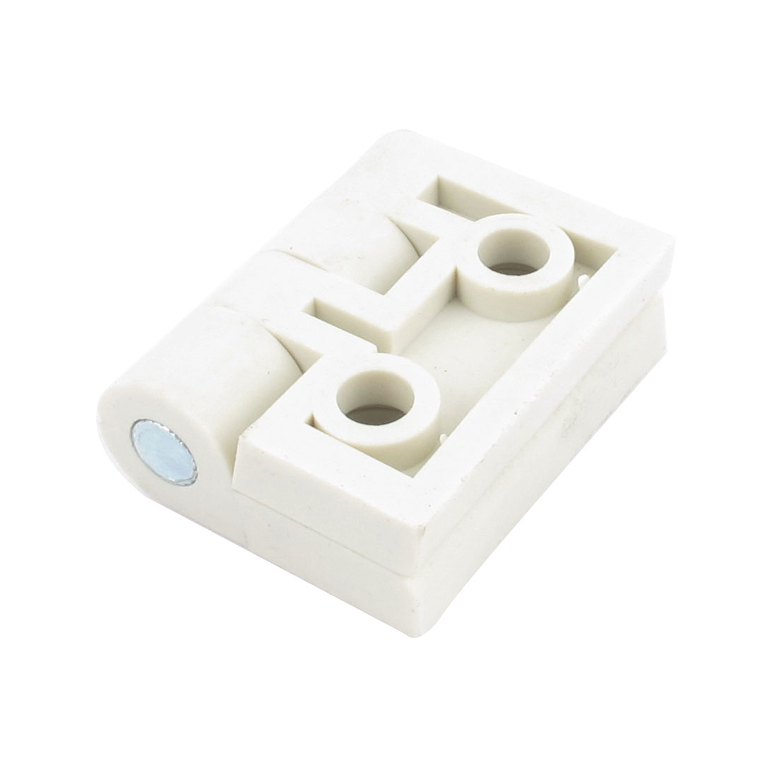 White Single Metal Axis Screw Mounting Plastic Door Butt Hinge
