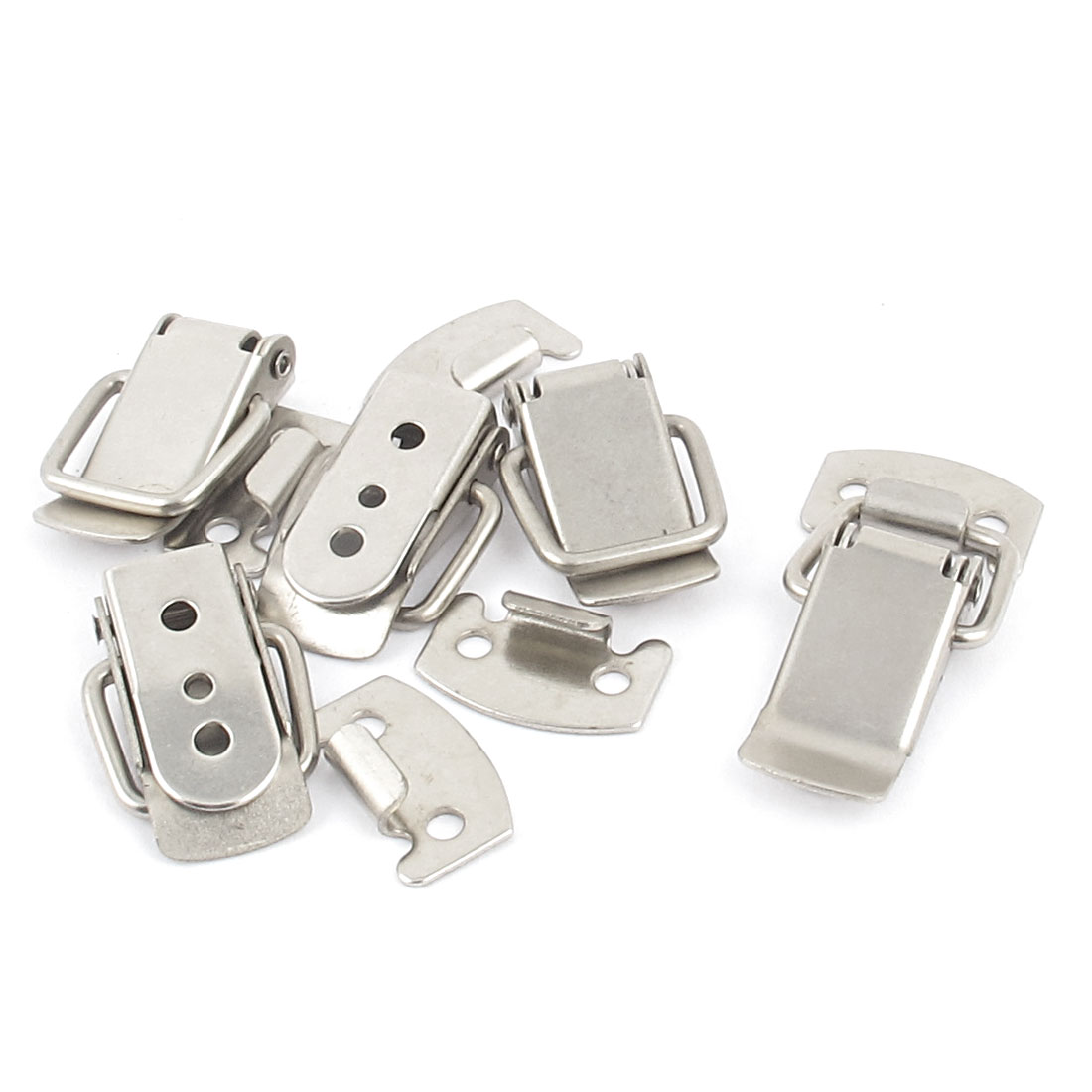 Cabinet Draw Metal Straight Loop Toggle Latch Catch Fastener 5pcs