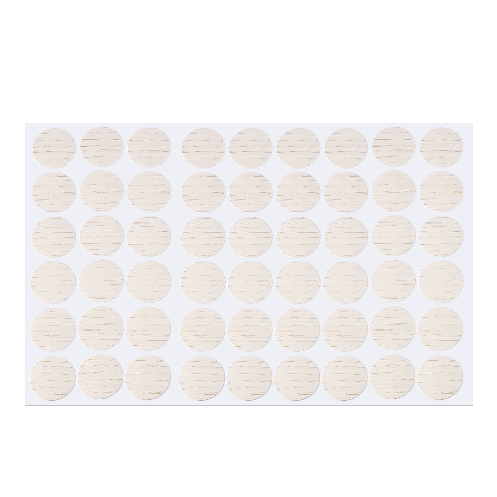 Furniture Self-adhesive Screw Covers Caps Stickers Ornament Beige 54 in 1