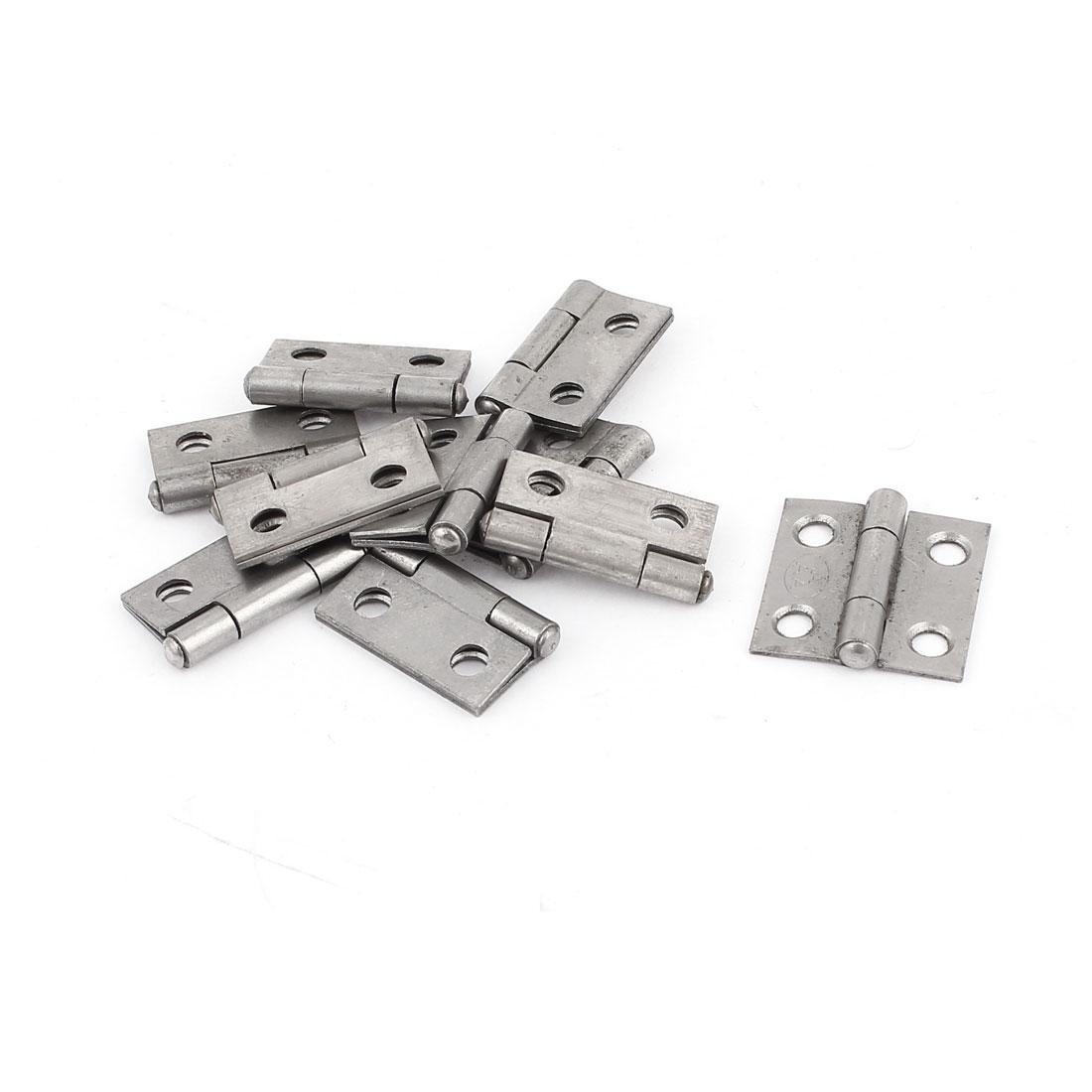"1"" Metal Cabinet Drawer Door Butt Hinge Miniature Fittings 10pcs"