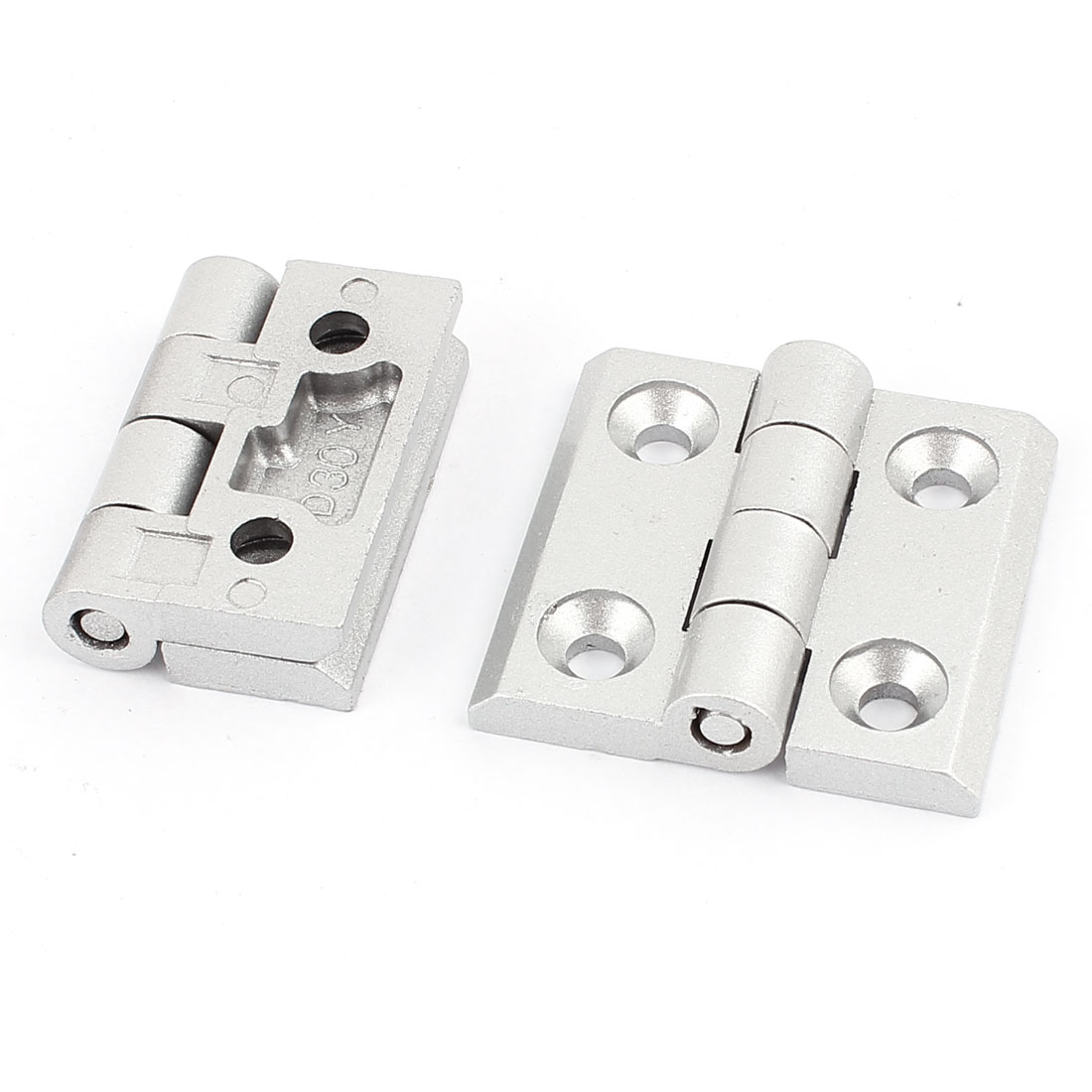 Cabinet Drawer Aluminum Alloy Door Butt Hinge Replacement Part 2pcs