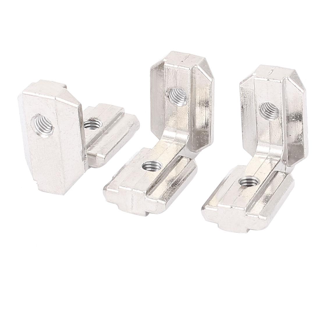 T Slot 90 Degree Stainless Steel Hidden Corner Connectors 3pcs