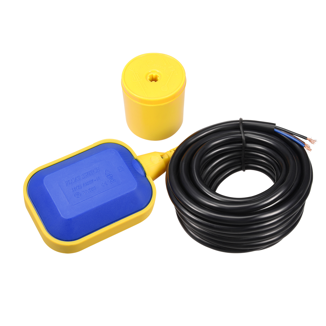 4M 13Ft Long Cable Water Liquid Level Float Switch Sensor Sump Fluid Tank NO NC Controller