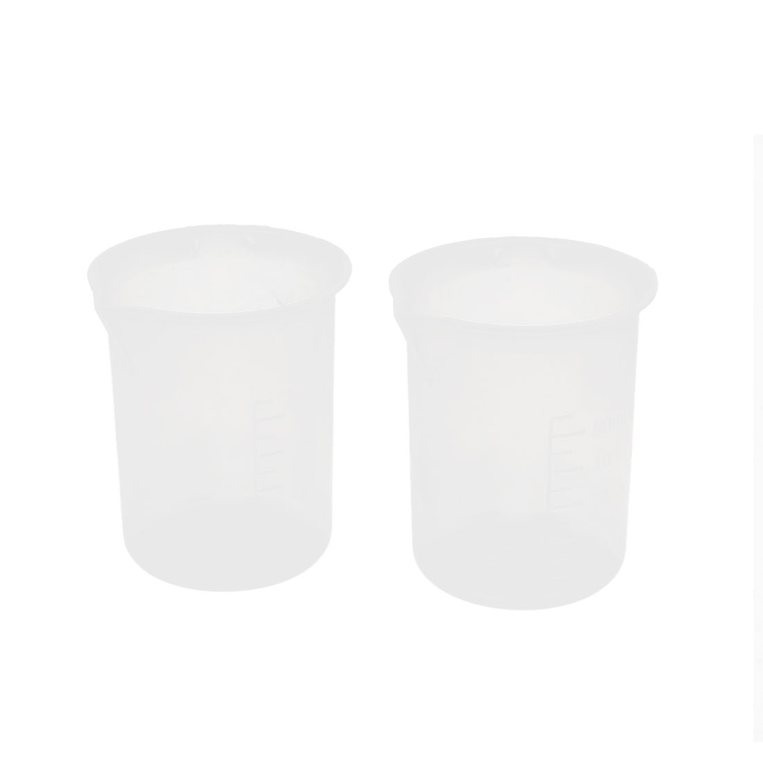 2pcs 50mL 1.7oZ Capacity Plastic Graduated Liquid Measuring Beaker Testing Cup Mug for Lab