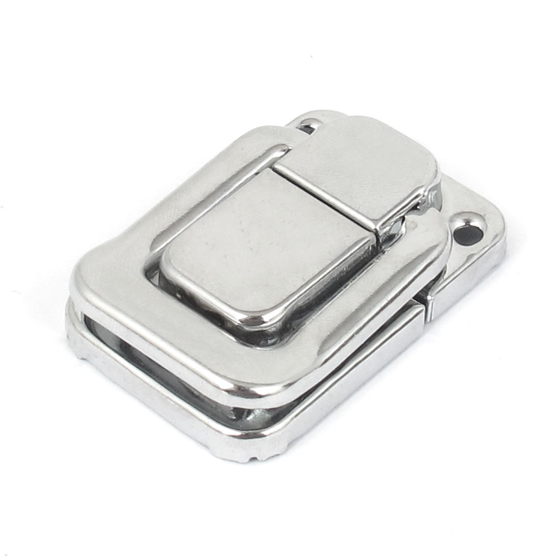 Suitcase Case Box Chest Trunk Metal Toggle Catch Latch Clasp Silver Tone 48mmx32mm