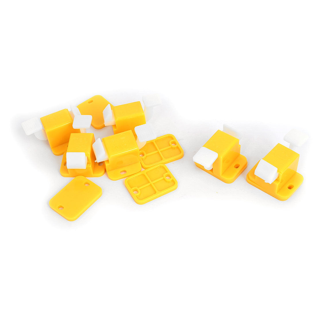 6pcs Yellow White Plastic Prototype Test Fixture Jig Edge Latch Assambly for PCB Board