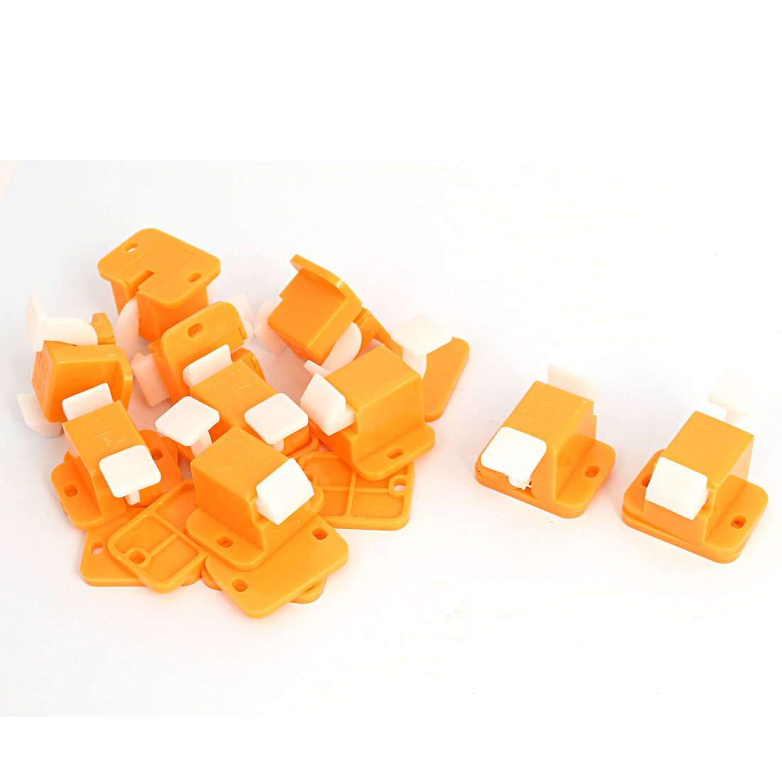 10pcs Yellow White Plastic PCB Board Prototype Test Fixture Jig Edge Latch w Screws