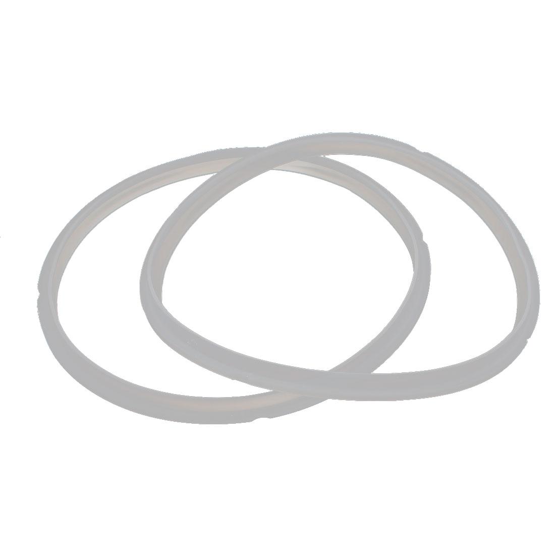 24cm Inner Dia White Rubber Pressure Cooker Gasket Sealing Ring 2 Pcs