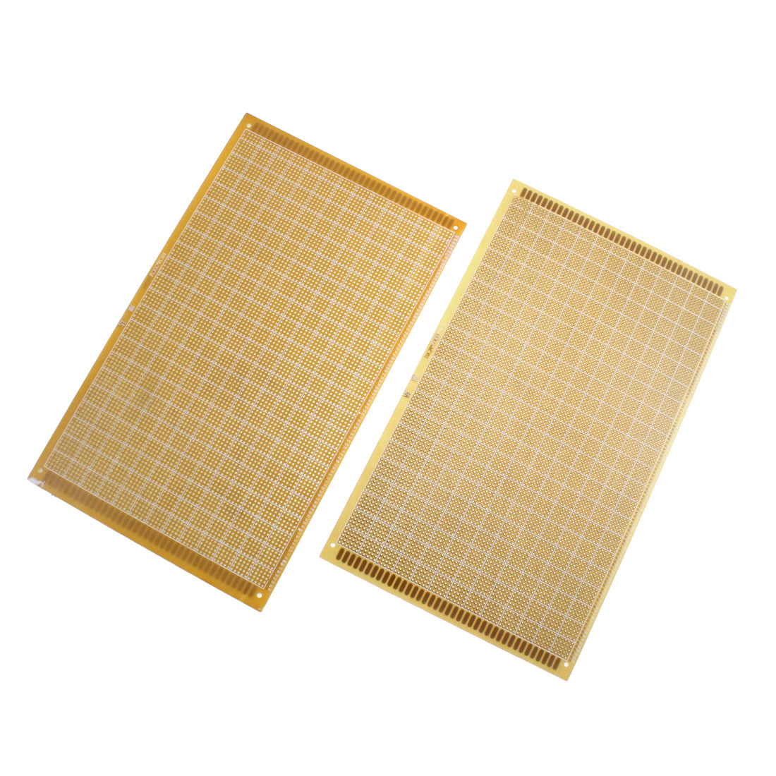 2Pcs 18 x 30cm Electronic DIY Prototype Paper Single Side PCB Board Brown