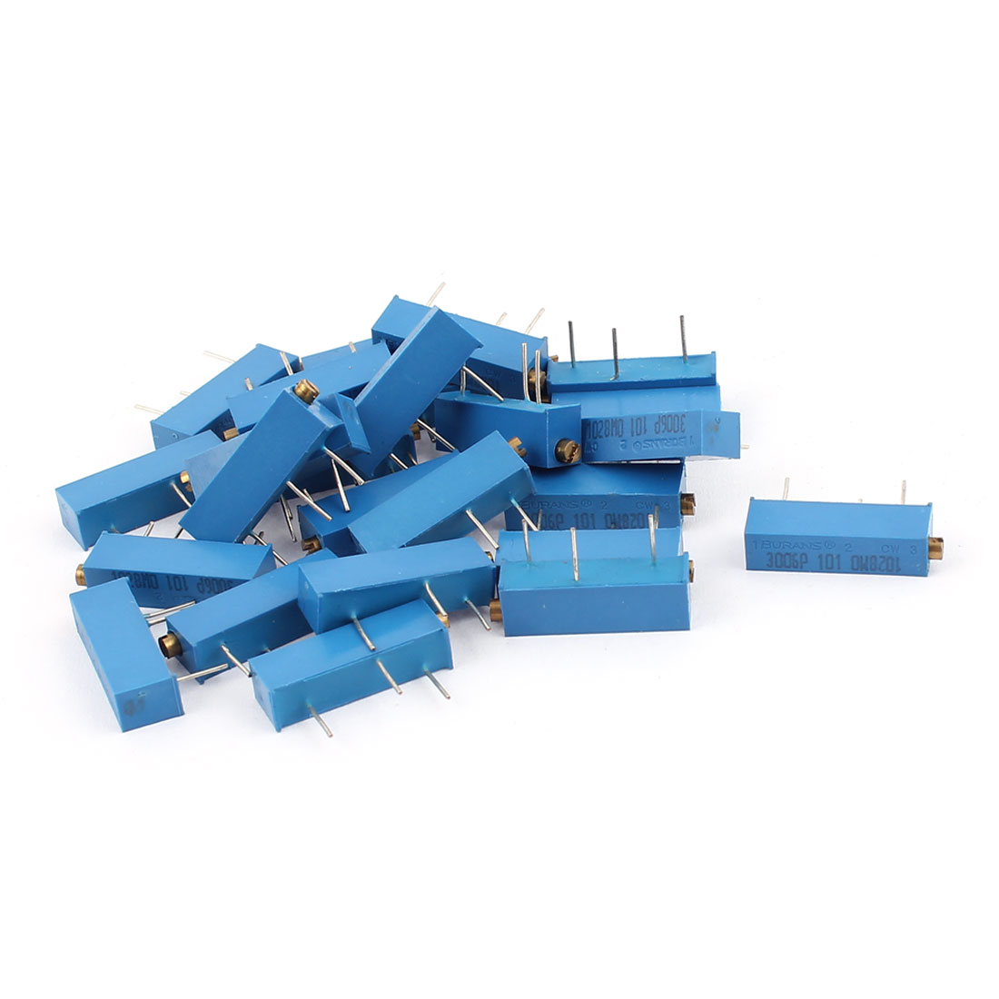 3006P-101 Precision Trimpot 100 Ohm Multiturn Variable Resistor 25 Pcs