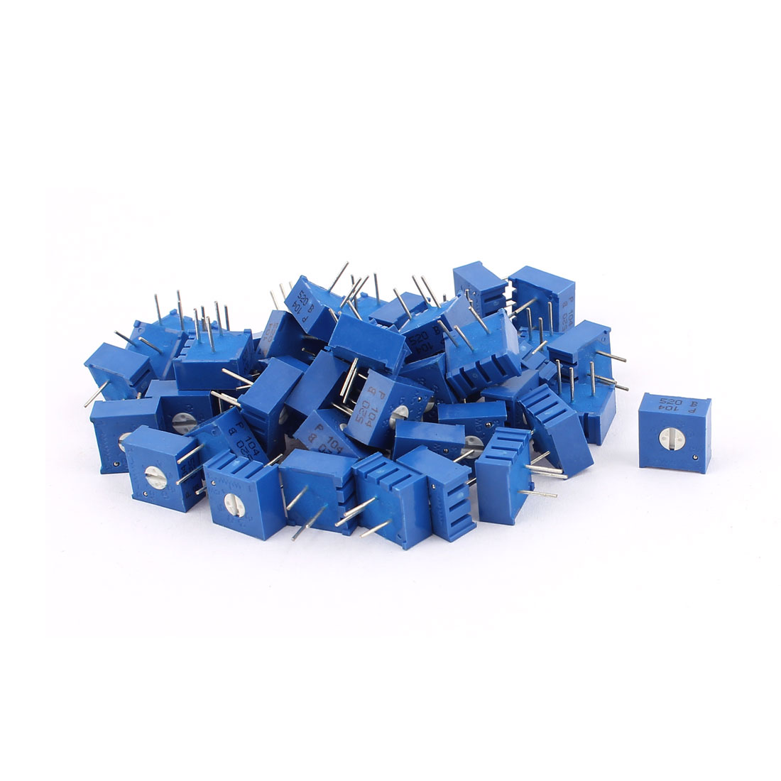 50Pcs Top Adjustment Trimmer Pot Potentiometer Resistors 100K Ohm 3386P