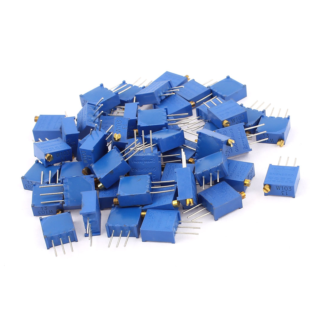 50Pcs 3296W-103 10K Ohm Resistor Trim Pot Potentiometer Trimmer Blue