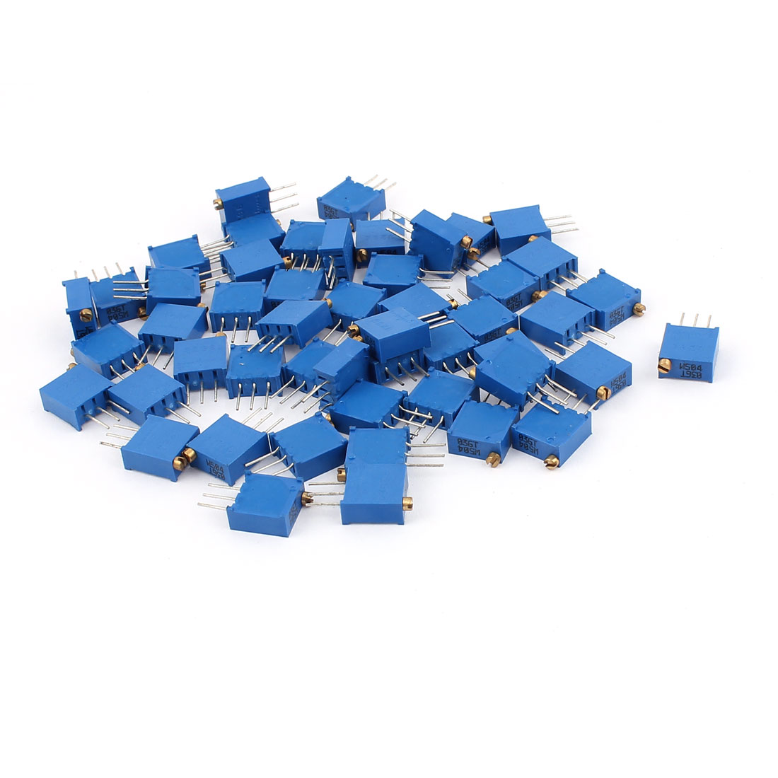 50Pcs 3296W-504 500K Ohm Resistor Trim Pot Potentiometer Trimmer Blue