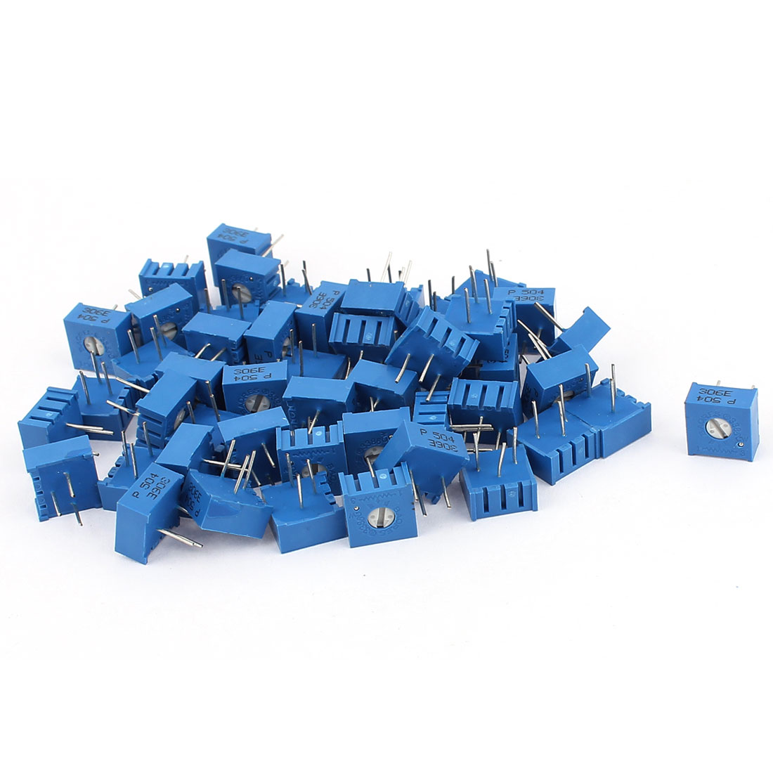 50Pcs Top Adjustment Trimmer Pot Potentiometer Resistors 500K Ohm 3386P