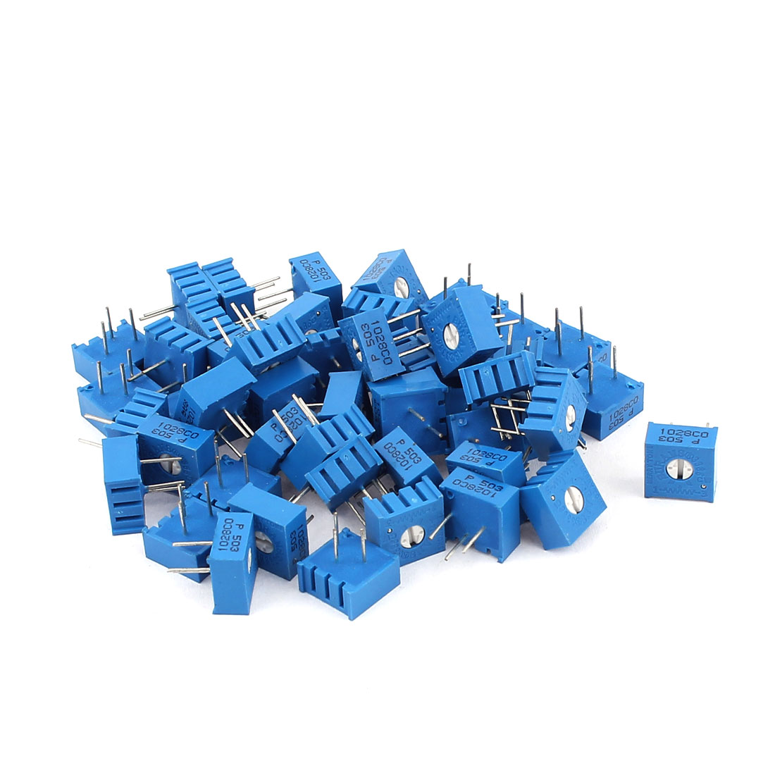 50Pcs Top Adjustment Trimmer Pot Potentiometer Resistors 50K Ohm 3386P