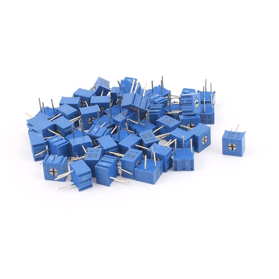 50Pcs Adjustable Potentiometer Trimmer Variable Resistor 3362P-103 10K Ohm