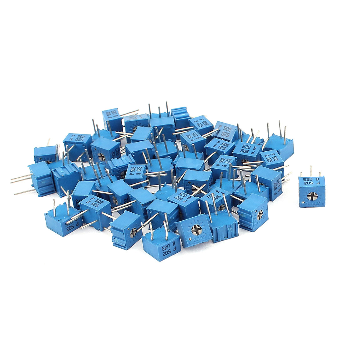 50Pcs Adjustable Potentiometer Trimmer Variable Resistor 3362P-502 5K Ohm