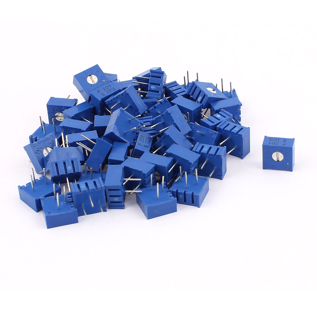 50Pcs Top Adjustment Trimmer Pot Potentiometer Resistors 200 Ohm 3386P