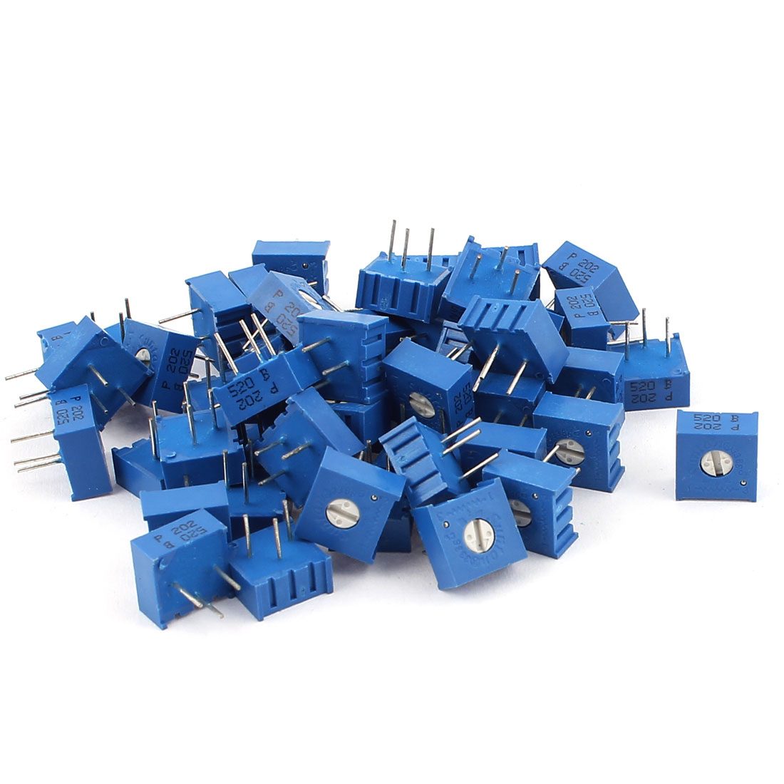50Pcs Top Adjustment Trimmer Pot Potentiometer Resistors 2K Ohm 3386P