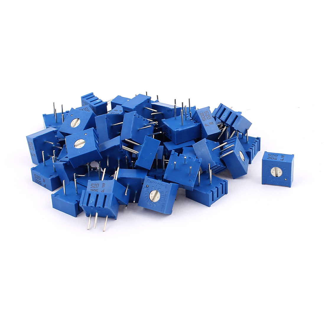 50Pcs Top Adjustment Trimmer Pot Potentiometer Resistors 5K Ohm 3386P
