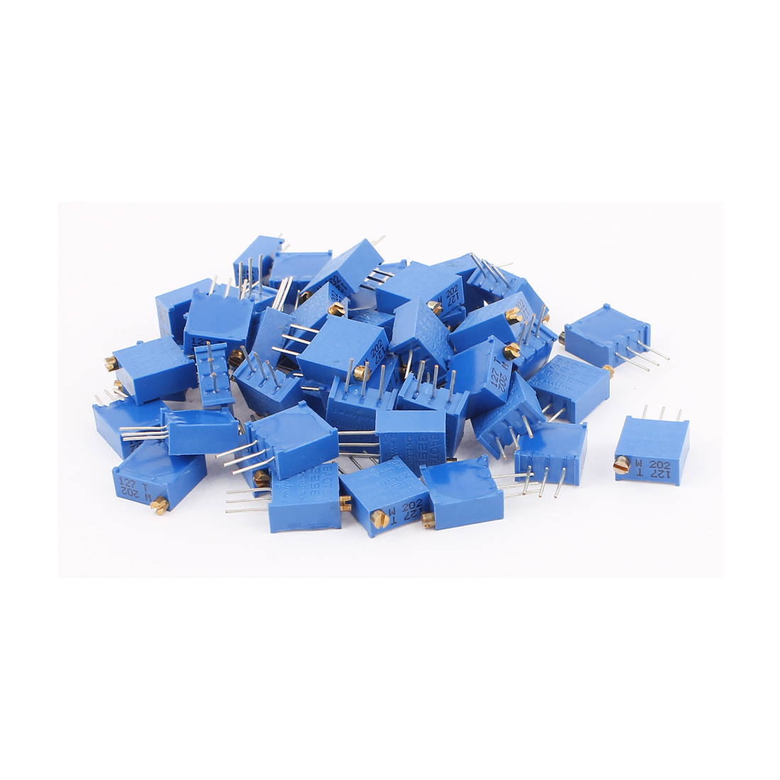 50Pcs 3296W-202 2K Ohm Resistor Trim Pot Potentiometer Trimmer Blue